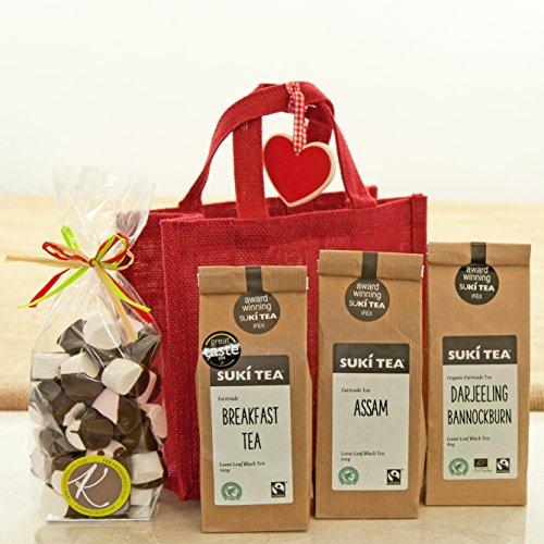 Gift Bag of Fairtrade Teas and Chocolate Marshmallows
