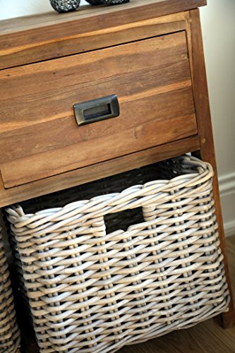 Reclaimed Teak Storage Unit / Storage Chest With 2 Drawers ...