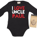 4442fb6699df Spoilt Rotten – PERSONALISED I Love Uncle Paul Baby Babygrow ...