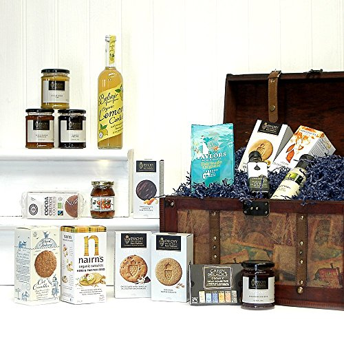 Large Luxury Vintage Organic Food Chest Hamper