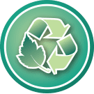 Eco-value icon - Recycled Material   Ethic & chic