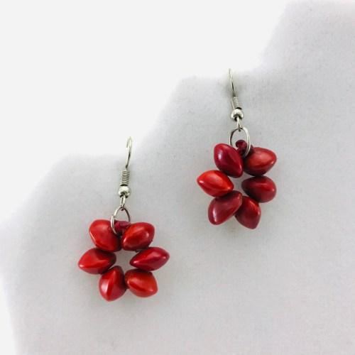 Flower Earrings – Natural Seeds Earrings