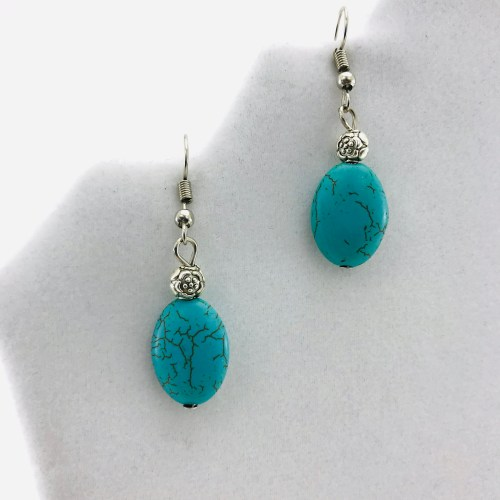 Flower And Stone Earrings