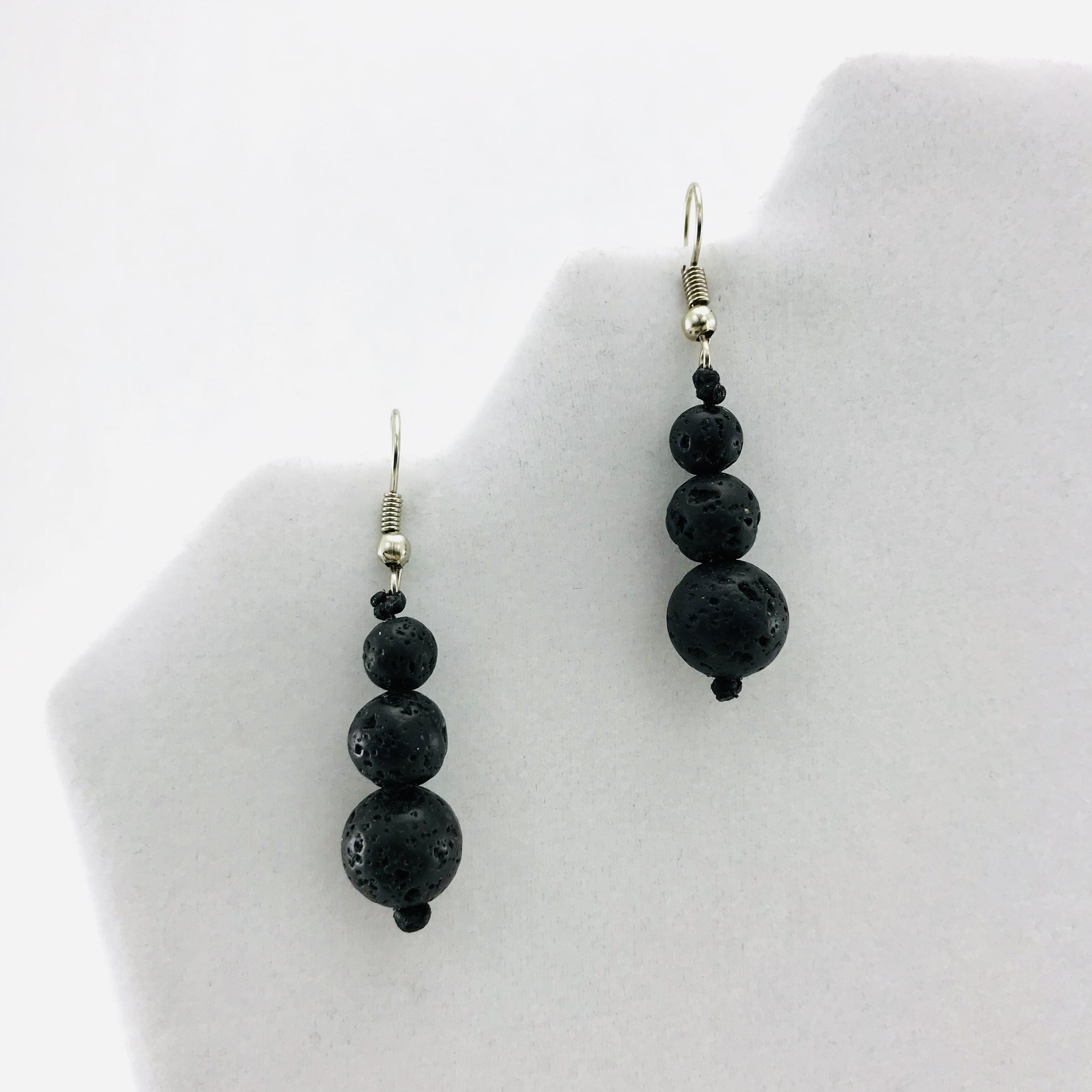 Natural Lava Stone Earrings