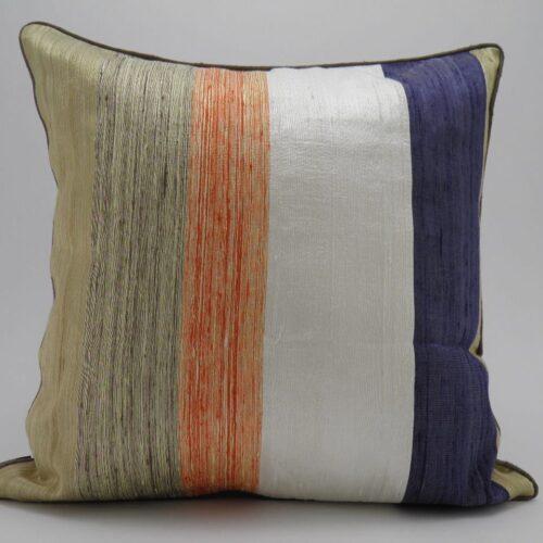 Bayadere Raw Silk Cushion Cover