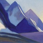 Ладак [Гармония пиков]. 1943 Ladakh [Harmony of the Peaks] Картон, темпера. 30,1 х 45,7