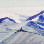 Перевал [Снежная пустыня]. 1935–1936 The Pass [The Snowy Desert] Картон, темпера. 30,5 х 45,7
