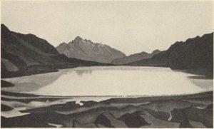 06 Картина Н.К.Рериха. Горное озеро. Тибет 1936