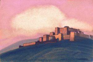 Картина Н.К.Рериха. Тибетская крепость. 1936