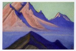 Картина Н.К.Рериха. Граница Тибета. [Туман, спустившийся с вершин] 1945