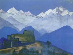 Картина Н.К.Рериха. Тибетский храм