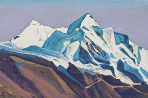 Картина Н.К.Рериха. Чумулбхари. Тибет. 1937