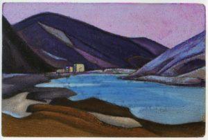 Картина Н.К.Рериха. Шаруген. [Монастырь Шаруген. Тибет] 1945