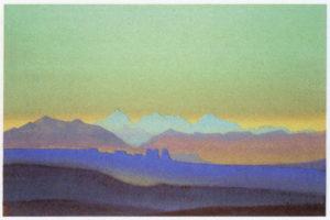 Картина Н.К.Рериха. Эверест от Тибета 1937
