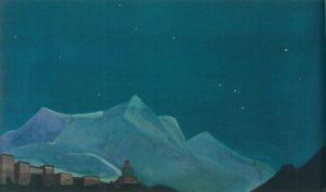 Картина Н.К.Рериха. Королевский монастырь (Твердыня Тибета) 1932