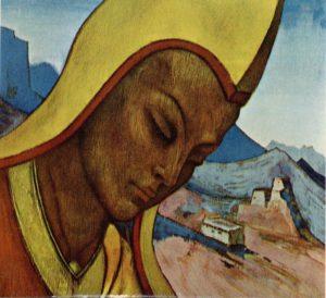 Картина Н.К.Рериха. Лама Тибета (Тибетский Лама) 1927