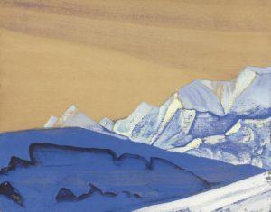 Картина Н.К.Рериха. Лист из Тибетского альбома 1928-1929