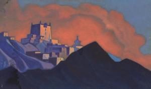 Картина Н.К.Рериха. Монастырь (Брамапутра). 1937