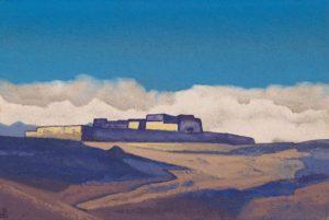 Картина Н.К.Рериха. Монастырь в Тибете 1930-е