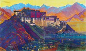 Картина Н.К.Рериха. Твердыня Тибета. 1939