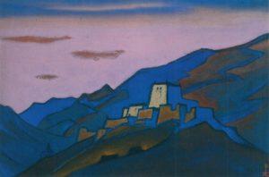 Картина Н.К.Рериха. Тибет [Тибет (Монастырь в горах)] 1943