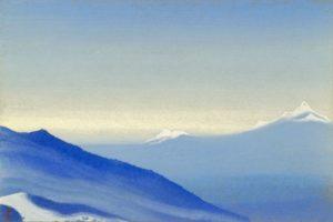 Картина Н.К.Рериха. Тибет [Тибет [Дальние вершины], [Плывущие вершины]] 1942