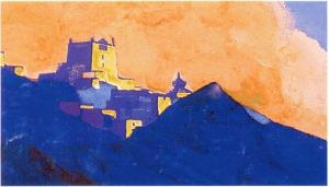 "Картина Н.К.Рериха. Тибет. [Эскиз к ""Монастырь. Брамапутра"" (ГМВ, 1937)] 1937"