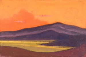 Картина Н.К.Рериха. Тибет. 1943