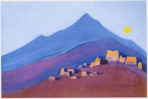 Картина Н.К.Рериха. Тибет. [Тибет [Полнолуние]] 1943