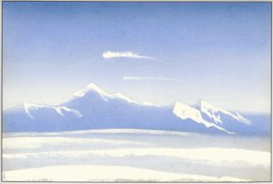 Картина Н.К.Рериха. Тибет. [Тибет [Поднебесные вершины]] 1942