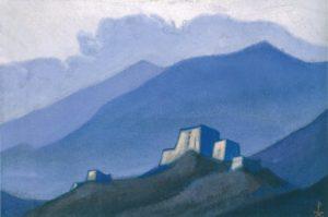 Картина Н.К.Рериха. Тибет. [Тибет. Крепость в горах] 1944