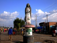Oromia statue in the center of Robe