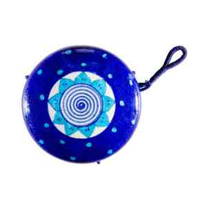handmade blue pottery bird feeder sold by Ethiqana a shop specialising in eco friendly products, earth friendly products and sustainable products.