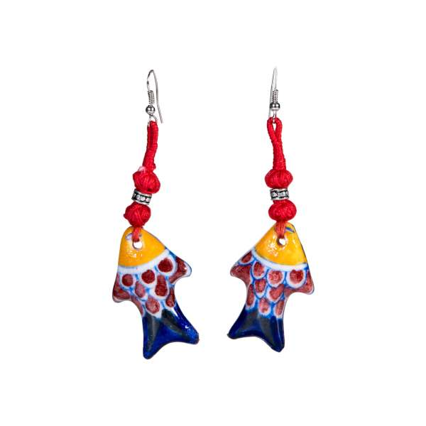 handmade pottery boho jewellery sold by Ethiqana a shop specialising in eco friendly products, earth friendly products and sustainable products.