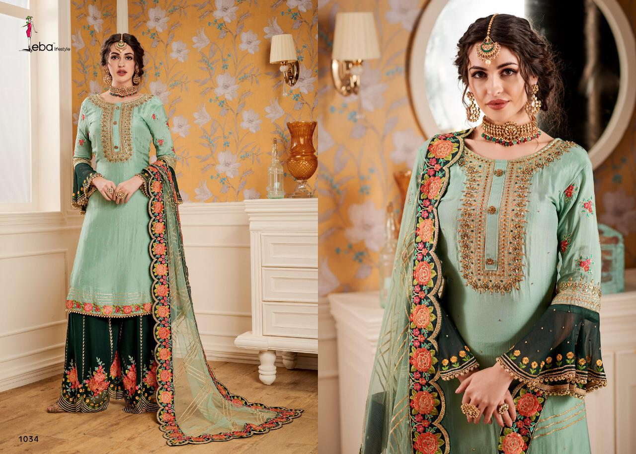 bced6831bf Download Image Zip · Download PDF. Eba Lifestyle Hurma Vol 6 Bridal  Collection Faux Georgette ...