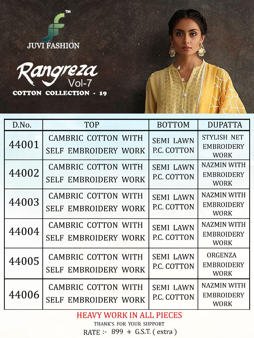 4733a2435d Download Image Zip · Download PDF · Download Image Zip · Download PDF. Juvi  Fashion Rangreza Vol 7 Cambric Cotton with Embroidery ...