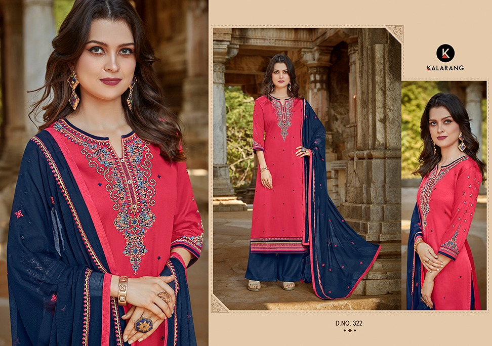 03306a9a4a Download Image Zip · Download PDF. Kessi Kalarang Traditional Vol 2 Designer  Jam Silk Cotton with Embroidery Work Dress Material Collection