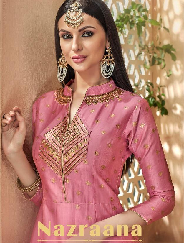 7eb7a0da1b Download Image Zip · Download PDF. STF Nazraana Designer Silk Jacquard  Readymade Party Wear Suits Collection at Wholesale Rate