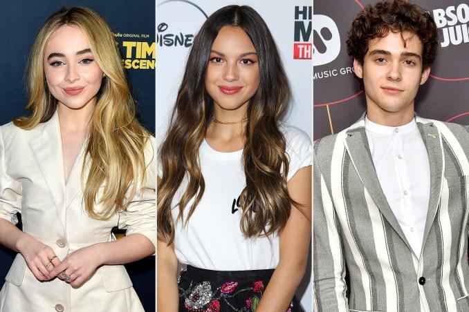 Sabrina Carpenter, Olivia Rodrigo and Joshua Basset
