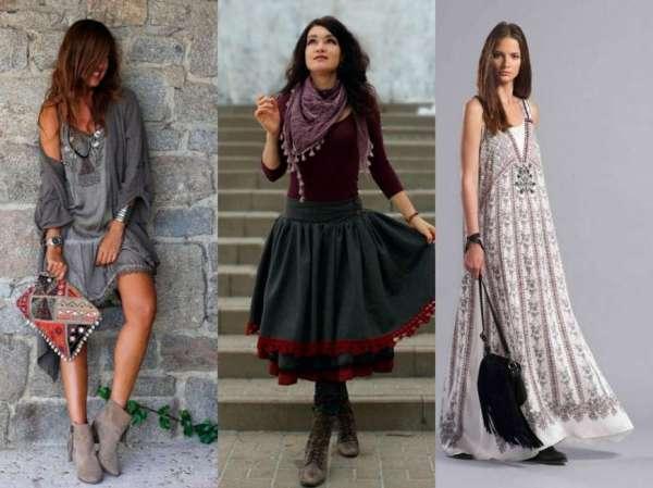 Многослойность в одежде и творческое настроение в стиле бохо