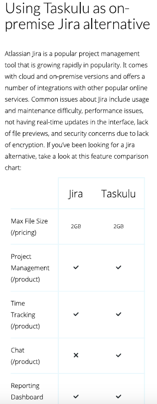 Taskulu vs Jira Selfhosting Collaboration Software