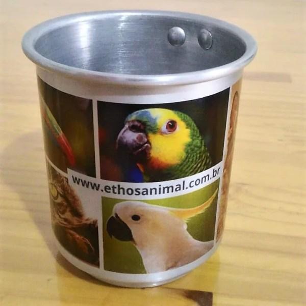 caneca aluminio personalizada foto pet cao cachorro gato papagaio amigos ethos animal 05