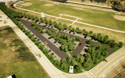 Groundbreaking at New Permeable Parking Lot in South Park, Design by Ethos Collaborative