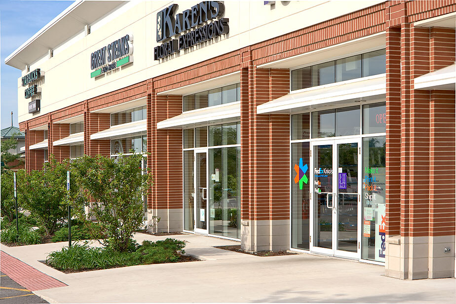 New Construction, Retail Shopping Center exterior, Bolingbrook