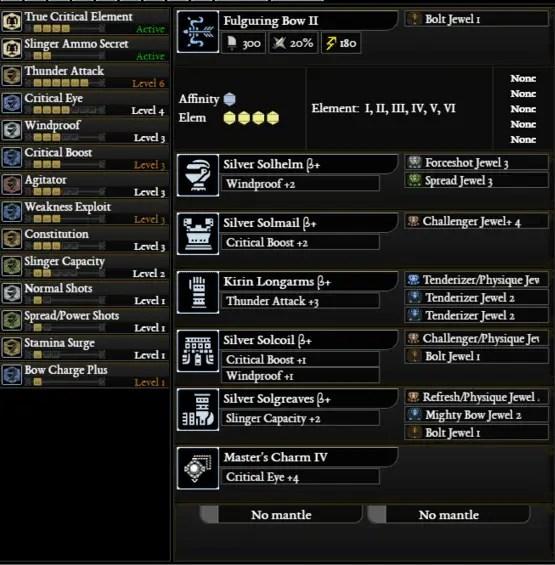 mhw reddit build - Bow Thunder