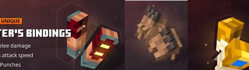 Minecraft Dungeons Gauntlest | All Unique Gauntlets in Minecraft Dungeons