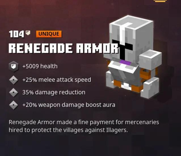 Minecraft Dungeons Renegade Armor Location