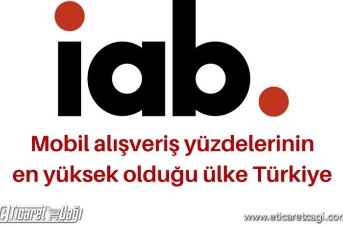 Mobil alışveriş yüzdelerinin en yüksek olduğu ülke Türkiye