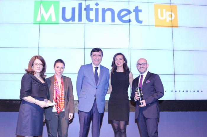 """""""En Yenilikçi Çözüm Ortağı"""" ödülü Multinet Up'ın oldu"""