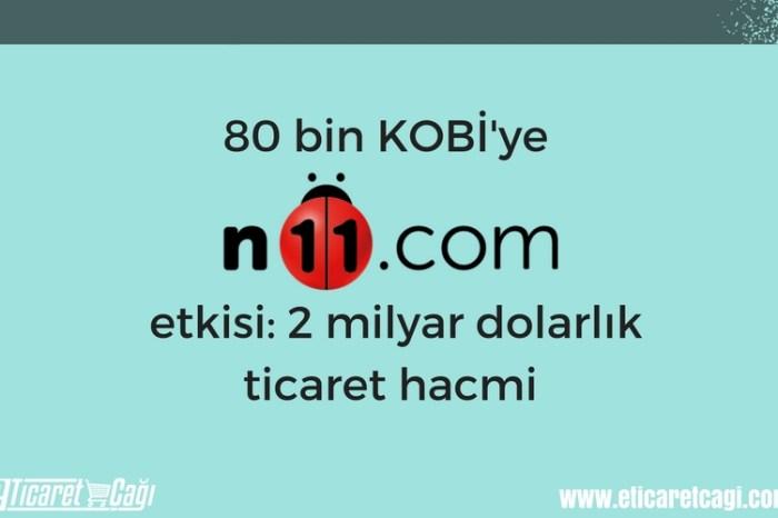 80 bin KOBİ'ye n11.com etkisi: 2 milyar dolarlık ticaret hacmi